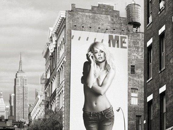 Billboards In Manhattan #2 - Lamina De 70 X 50 Cm