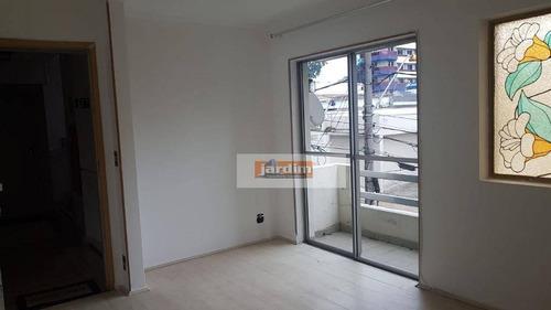 Apartamento C/ 60 M² Área Útil - 2 Dormitórios, 1 Vaga De Garagem - Por R$ 380.000 - Jardim - Santo André/sp - Ap6644