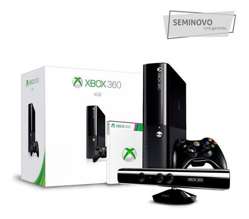Xbox 360 Slim + Kinect + Jogo Adventures