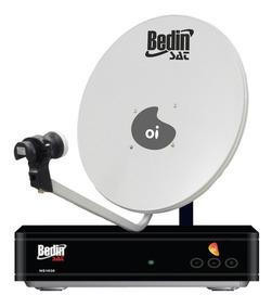 Kit Elsys Oi Tv Livre Hd Receptor E Antena 60cm Lnbf E Cabo