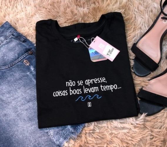 Camisa Tshirt Minimalista Com Frases