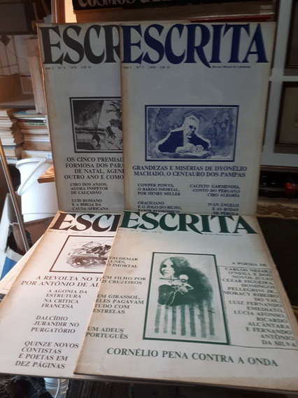 04 Exemplares Revista Mensal De Literatura Escrita Raras
