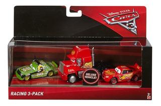 Disney Pixar Cars 3 Racing 3-pack Metal Mattel