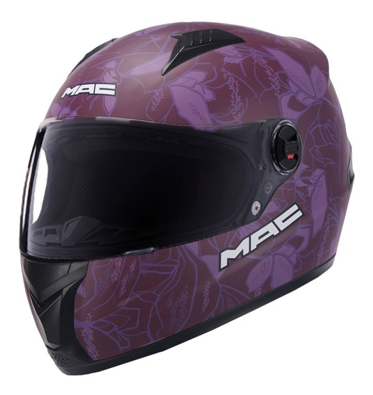 Casco Moto Mujer Mac Street Organic Dama Violeta Devotobikes