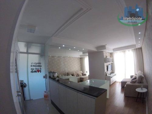 Apartamento Com 3 Dormitórios À Venda, 62 M² Por R$ 290.000 - Jardim Bela Vista - Guarulhos/sp - Ap0858