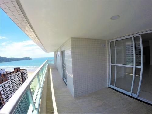 Apartamento Novo Alto Padrão Com 3 Suítes  À Venda, 140 M² Por R$ 850.000 - Vila Guilhermina - Praia Grande/sp - Ap3558