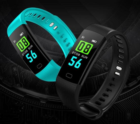 Relógio Inteligente Pulseira Smartband Y5 Azul