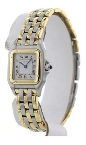 Relógio Cartier Panthère Pm | Pulseira Em Aço / Ouro 18k