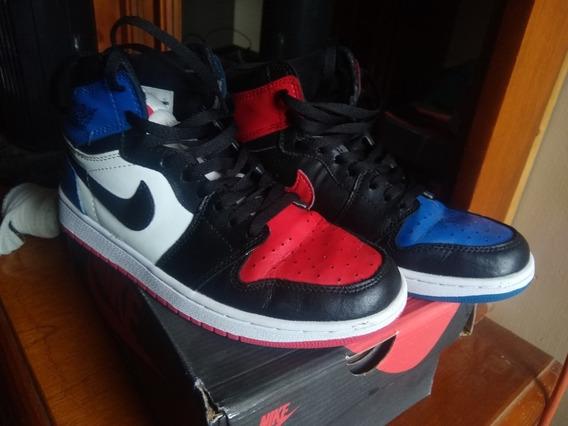Tenis Nike Air Jordan 1 Retro Top 3 Blue Red White