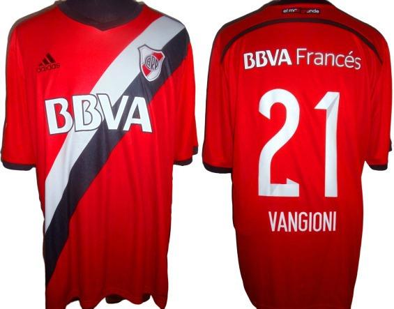 Camiseta adidas De River Roja 2015 #21 Vangioni Talle Xl !!!