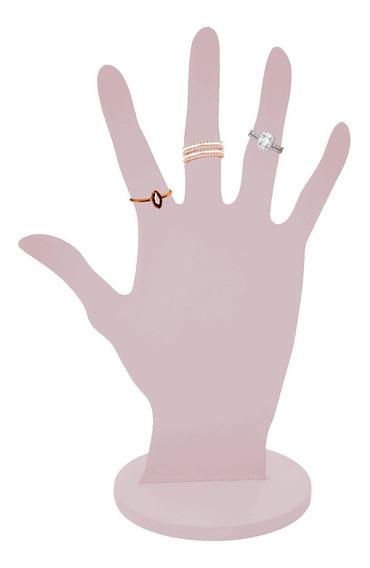Mão Porta Anéis 21x14 Mdf Decorado Bijuterias Lilás Qm
