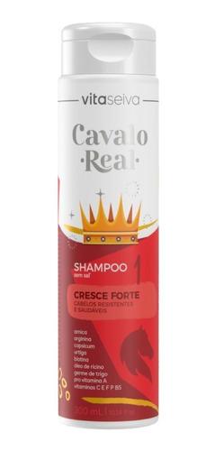 Imagem 1 de 9 de Shampoo Sem Sal Cavalo Real 300ml Lançamento Vs