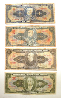 Cédulas Antigas De Cruzeiro (dinheiro - Moeda)