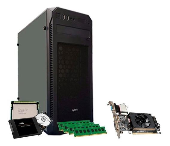 Pc Gamer I7, Geforce 2gb 710 Gt, 16gb, Ssd 240gb, Hd 500gb
