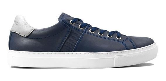 Zapatillas Hombre Cuero Marsanto Marlon Azul. Store Oficial
