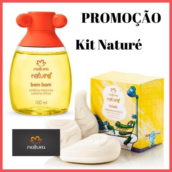 Promoção Kit Naturé - Colônia Bem Bom Meninas Com 100ml Natura + Sabonete Em Barra Bololô Natura - Preço Especial