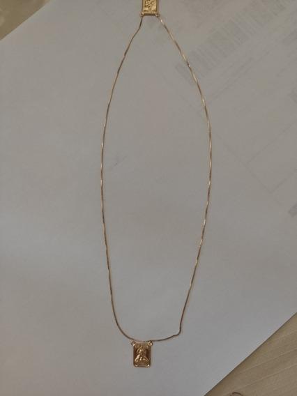 Escapulário Malha Veneziana 60cm Ouro 18k 750