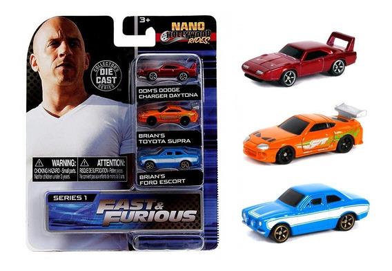 Set Miniaturas Fast & Furious Nano Hollywood Rides Jada Toys