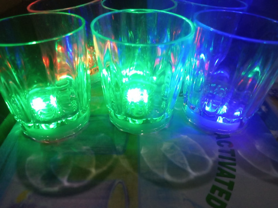 125 Vaso Luz Led Shot Tequila Caballito Luminoso