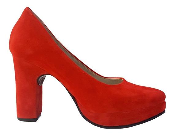 Stilettos - Taco Palo Alto - Talles Grandes 42 43 44 - Rojo