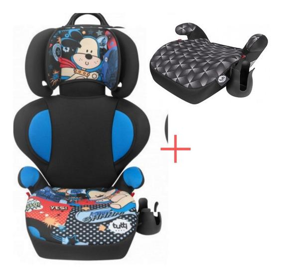 Cadeira Cadeirinha P/ Carro Bebê + Assento Elevação Infantil
