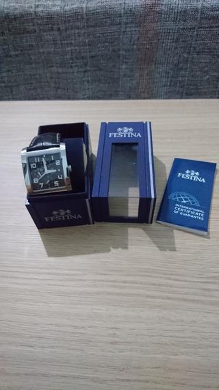 Relógio Festina Original Pulseira Em Couro Modelo F16235