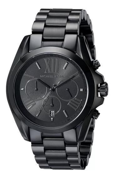 Relógio Xq7665 Michael Kors Mk5550 Bradshaw Black + Cx Lindo