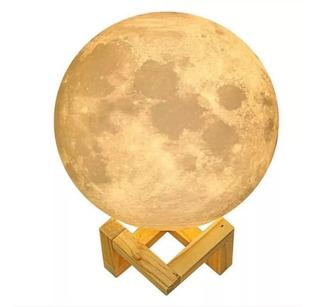 Lampara Velador Led Luna Moon La Original Mesa Táctil 18cm