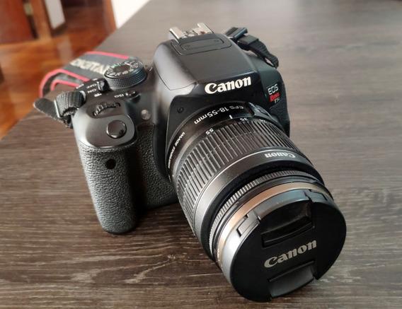 Câmera Canon T5i E Lente 18-55 Com Deadpixel + 4 Baterias