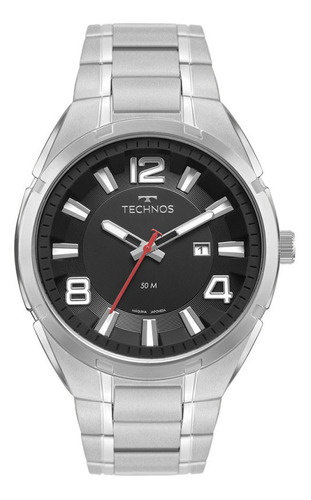 Relógio Technos Masculino Analógico Prata 2117lcz1p