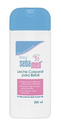 Leche Corporal Para Bebé Sebamed Nutre E Hidrata 200 Ml