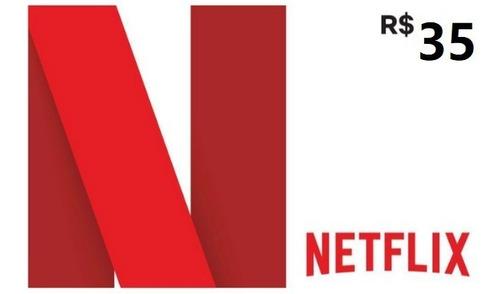Imagem 1 de 1 de Cartão Netflix R$ 35 Reais