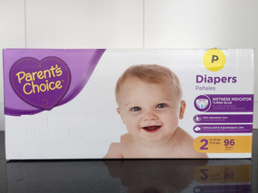 Fraldas Descartáveis Parents Choice Diapers P