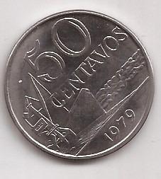 Brasil Moneda De 50 Centavos Año 1979 !!!