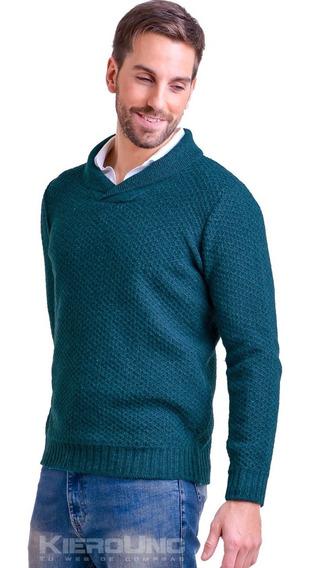 Sweater Hombre Lana Moderno Cuello Cruzado Saco Kierouno
