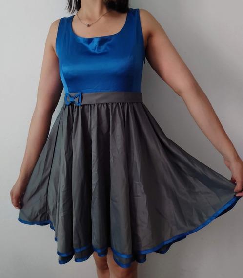 Vestido Azul De Fiesta Como Quieres Que Te Quiera