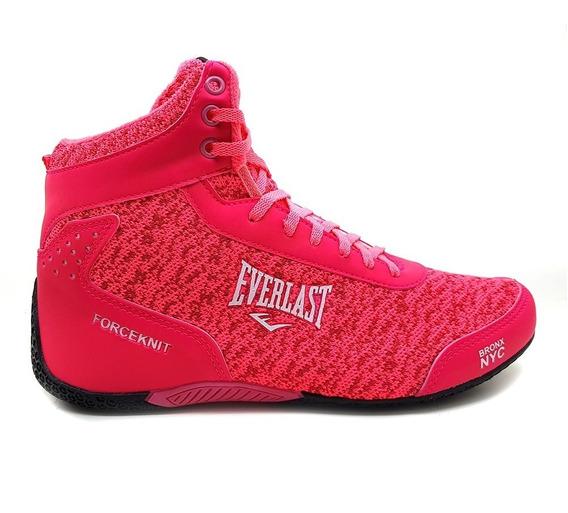 Tênis Everlast Feminino Forceknit Rosa Chiclete Box Fitness