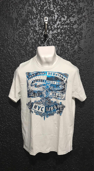 Playera, Camiseta Color Gris. Dkny 100% Original. Talla M.