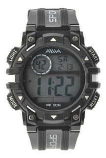 Reloj Hombre Sumergible Aiwa Digital Deportivo 5atm Adig015