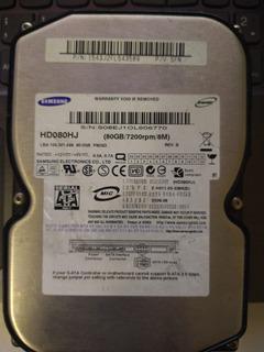 Disco Rijido Hd Samsung 80gb 7200rpm 8m Hd080hj