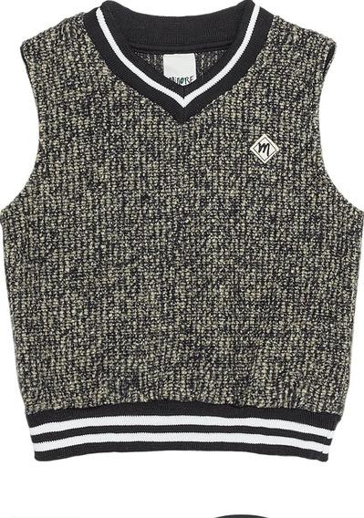Colete De Bebê Suéter Social Baby Em Tweed Toma - Menino