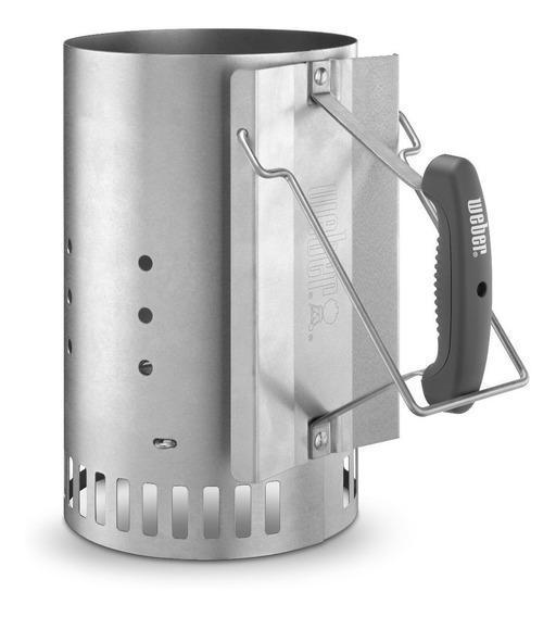 Weber Encendedor De Carbón Grande Rapidfire Iniciador De Fuego Para Asador - 7416