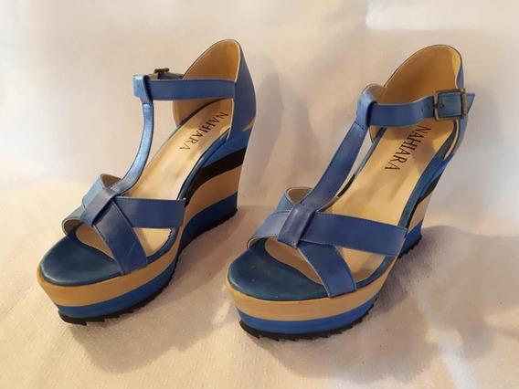 Sandalias Tonos Azul Talle 39