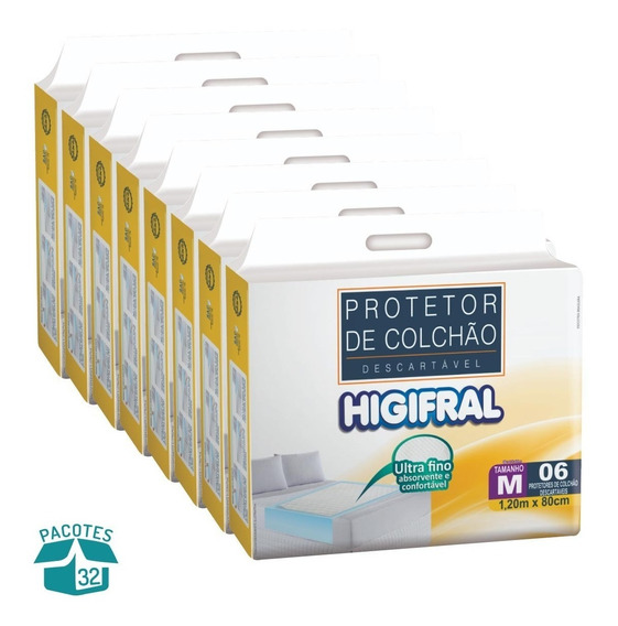 Protetor De Colchão Descartável Higifral - 32 Pacotes