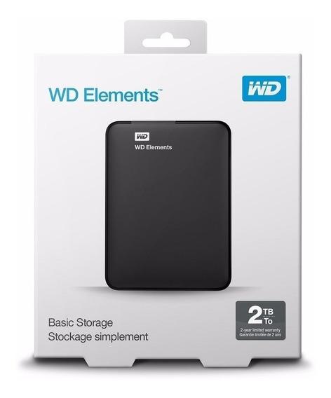 Hd Externo 2tb Portátil Western Digital Elements Usb 3.0 Wd