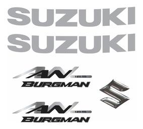 Kit Jogo Emblema Adesivo Suzuki Burgman An 125 2007 Bgm02