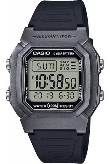 Relógio Casio Masculino Digital Standard W-800 Preto Cinza