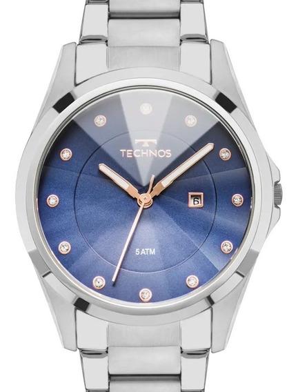Relógio Technos Feminino Cristais Swarovski Gn10at/1a - Nf