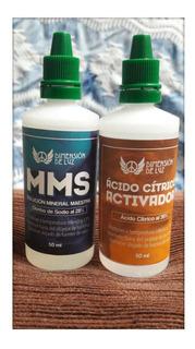 Mms Clorito De Sodio 28% + Activador + Protocolos + 50 Ml