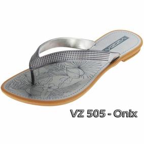 Sandália Rasteirinha Vizzia Ônix - Vz 505